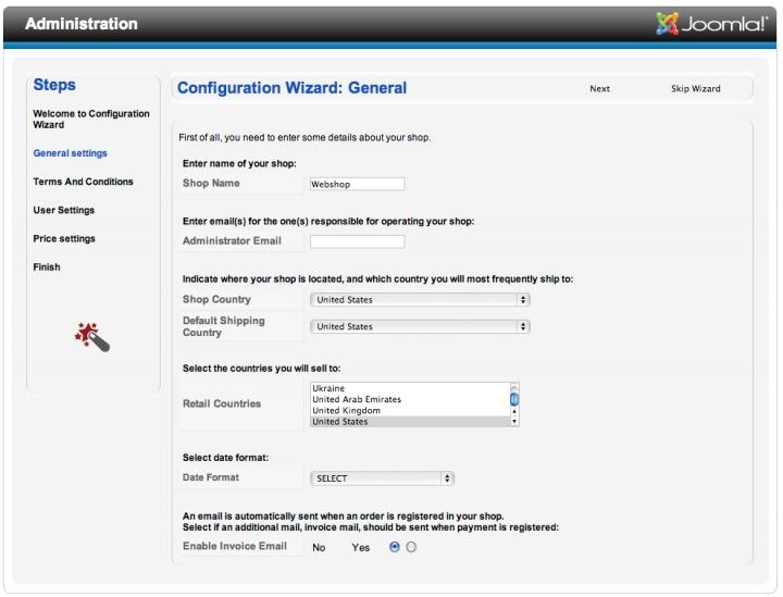 redshop configuratie hulp